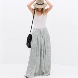 Zara Polka Dot Maxi Skirt